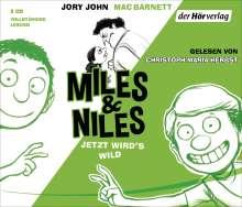 Jory John: Miles & Niles - Jetzt wird's wild, 3 CDs