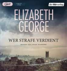 Elizabeth George: Wer Strafe verdient, 3 MP3-CDs