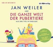 Jan Weiler: Die ganze Welt der Pubertiere. Drei Titel in einer Box, 5 CDs