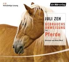 Juli Zeh: Gebrauchsanweisung für Pferde, 4 CDs