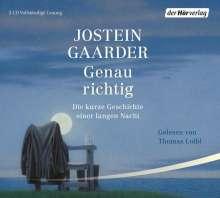 Jostein Gaarder: Genau richtig, 3 CDs