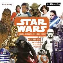 Star Wars-Saga für Kinder erzählt (Episode 1-8), 2 CDs