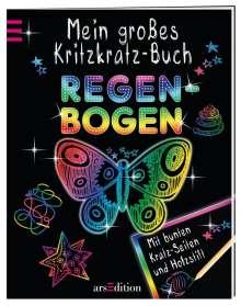 Elizabeth Golding: Mein großes Kritzkratz-Buch Regenbogen, Buch