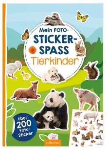 Mein Foto-Stickerspaß - Tierkinder, Buch
