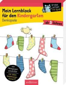Hannah Lang: Mein Lernblock für den Kindergarten - Denkspiele, Buch