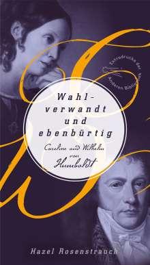 Hazel Rosenstrauch: Wahlverwandt und ebenbürtig, Buch