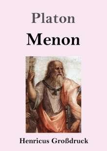 Platon: Menon (Großdruck), Buch