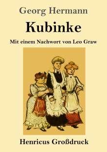Georg Hermann: Kubinke (Großdruck), Buch