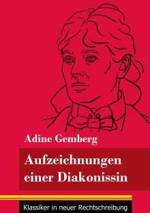 Adine Gemberg: Aufzeichnungen einer Diakonissin, Buch