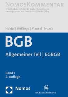 Bürgerliches Gesetzbuch 01: Allgemeiner Teil - EGBGB, Buch