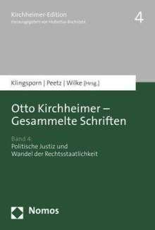 Otto Kirchheimer - Gesammelte Schriften, Buch