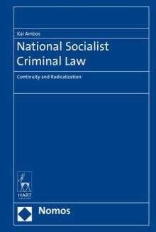 Kai Ambos: National Socialist Criminal Law, Buch