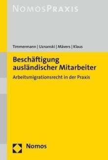 Petra Timmermann: Beschäftigung ausländischer Mitarbeiter, Buch