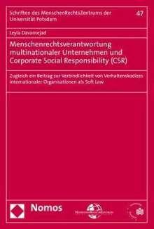 Leyla Davarnejad: Menschenrechtsverantwortung multinationaler Unternehmen und Corporate Social Responsibility (CSR), Buch