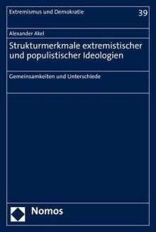Alexander Akel: Strukturmerkmale extremistischer und populistischer Ideologien, Buch