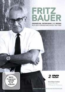 Fritz Bauer - Gespräche, Interviews und Reden aus den Fernseharchiven 1961-1968, 2 DVDs