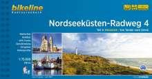 Bikeline Nordseeküsten-Radweg 4 Nordseeküsten-Radweg. 1:75000, Buch