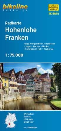 Bikeline Radkarte Deutschland Hohenlohe - Franken 1 : 75 000, Diverse