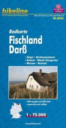 Bikeline Radkarte Deutschland Fischland Darß 1 : 75 000, Diverse