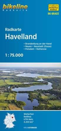 Bikeline Radkarte Deutschland Mark Brandenburg Havelland 1 : 75 000, Diverse