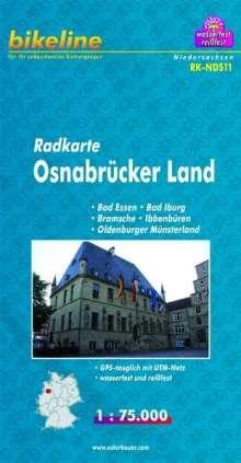 Bikeline Radkarte Deutschland Osnabrück und Umgebung 1 : 75 000, Diverse