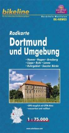 Bikeline Radkarte Deutschland Dortmund und Umgebung 1 : 75 000, Diverse