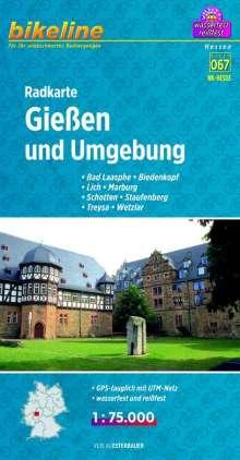 Bikeline Radkarte Deutschland Gießen und Umgebung 1 : 75 000, Diverse