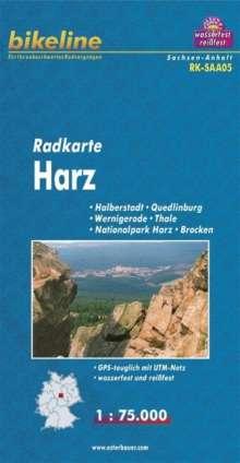 Bikeline Radkarte Deutschland Harz 1 : 75 000, Diverse