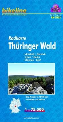 Bikeline Radkarte Deutschland Thüringer Wald 1 : 75 000, Diverse
