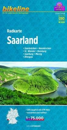 Bikeline Radkarte Deutschland Saarland 1 : 75 000, Diverse