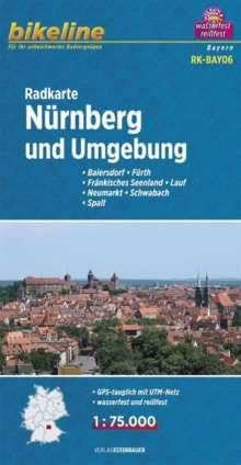 Bikeline Radkarte Deutschland Nürnberg und Umgebung 1 : 75 000, Diverse