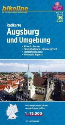 Bikeline Radkarte Deutschland Augsburg und Umgebung 1 : 75 000, Diverse