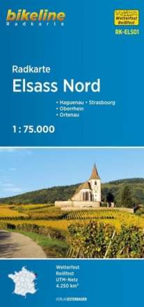 Bikeline Radkarte Elsass Nord 1 : 75.000, Diverse