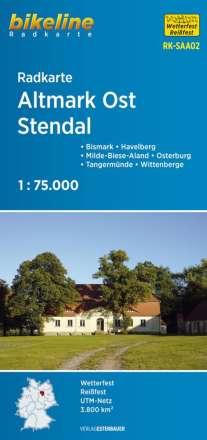 Bikeline Radkarte Deutschland Altmark Ost Stendal 1:75.000, Diverse