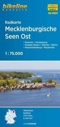 Bikeline Radkarte Deutschland Mecklenburgische Seen Ost 1:75.000, Diverse