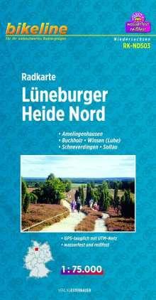 Bikeline Radkarte Lüneburger Heide Nord 1 : 75.000, Diverse