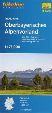 Bikeline Radkarte Oberbayerisches Alpenvorland 1 : 75 000, Diverse