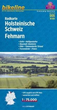 Bikeline Radkarte Holsteinische Schweiz, Fehmarn (SH05) 1 : 75 000, Diverse