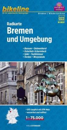 Bikeline Radkarte Bremen 1: 75.000, Diverse
