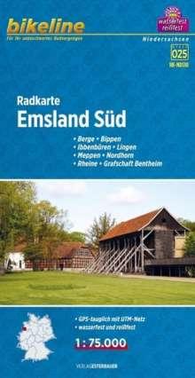 Bikeline Radkarte Emsland Süd (NDS10) 1 : 75 000, Diverse