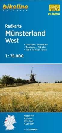 Bikeline Radkarte Münsterland West 1 : 75 000, Diverse
