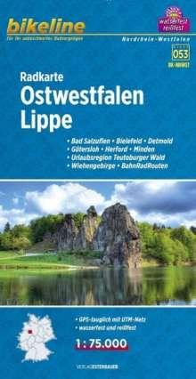 Bikeline Radkarte Ostwestfalen, Lippe 1 : 75.000, Diverse