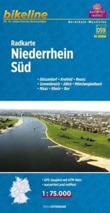 Bikeline Radkarte Niederrhein Süd 1 : 75 000, Diverse