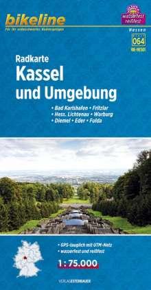 Bikeline Radkarte Kassel und Umgebung 1 : 75.000, Diverse