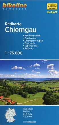Bikeline Radkarte Chiemgau  (BAY17) 1 : 75 000, Diverse