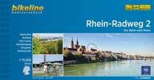 Bikeline Radtourenbuch Rhein-Radweg 02 1 : 75 000, Buch