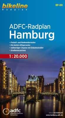 Bikeline Radkarte . ADFC-Radplan Hamburg 1 : 20 000, Buch