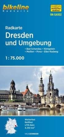 Bikeline Radkarte Dresden und Umgebung 1 : 75 000, Diverse