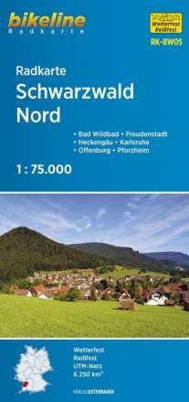 Bikeline Radkarte Schwarzwald Nord 1 : 75 000, Diverse