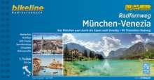 Bikeline Radtourenbuch Radfernweg München-Venezia, Buch
